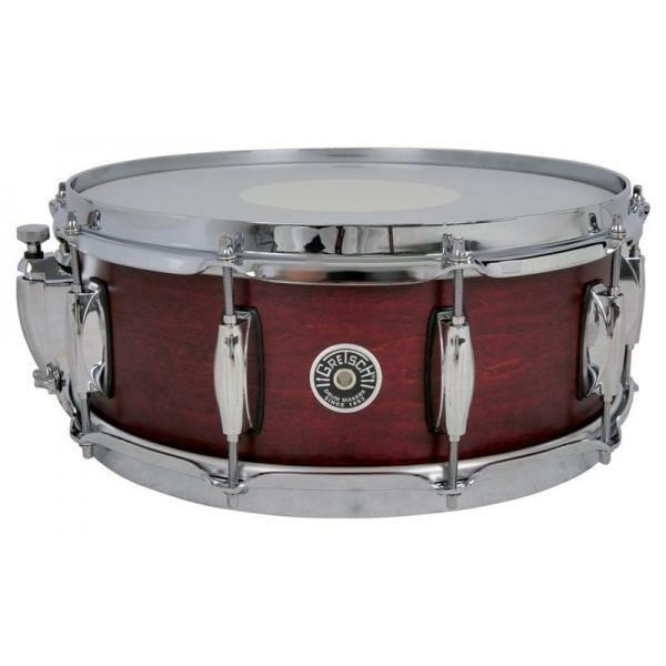 Gretsch Brooklyn Snare Drum Satin Cherry Red - 14 x 6.5 Lightning Throw
