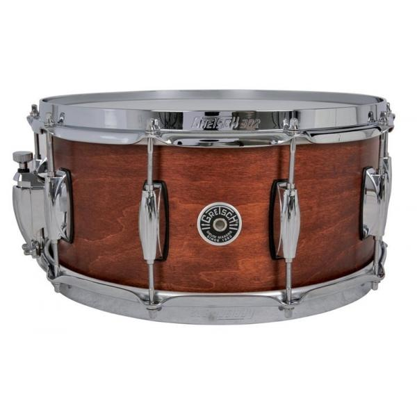 Gretsch Brooklyn Snare Drum Satin Mahogany - 14 x 6.5 Lightning Throw