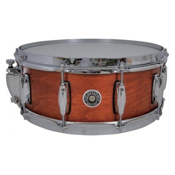 Gretsch Brooklyn Snare Drum Satin Mahogany - 14 x 5.5 Lightning Throw