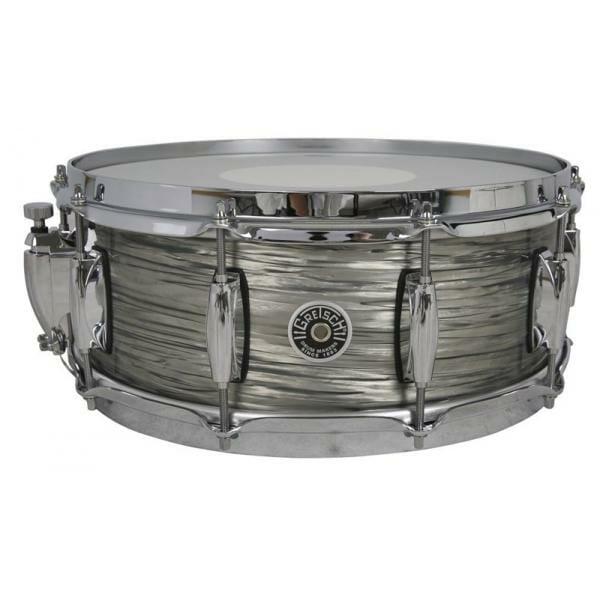 Gretsch Brooklyn Snare Drum Grey Oyster - 14 x 5.5 Lightning Throw