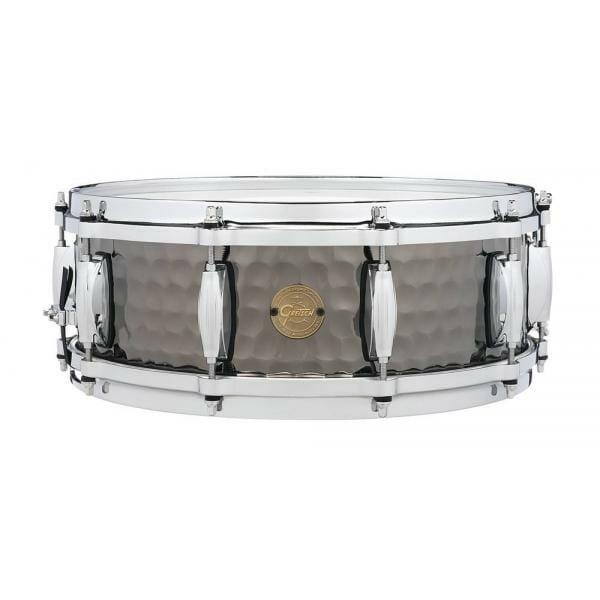"""Gretsch Drums Hammered Black Steel Snare Drum - 5"""" x 14"""""""