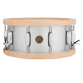 Gretsch S1-6514A-WH 14 x 6.5 Snare Drum SEAMLESS ALUMINIUM SHELL WOOD HOOPS 10-LUG
