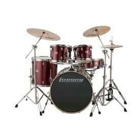 "LUDWIG 20"" 5 Piece Evolution Outfit w/HW - Red Sparkle"