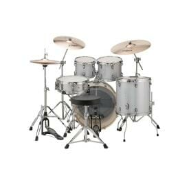 "LUDWIG 20"" 5 Piece Evolution Outfit w/HW - Silver/White Sparkle"