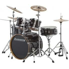 "LUDWIG 22"" Evolution Maple Shell Pack - Transparent Black"