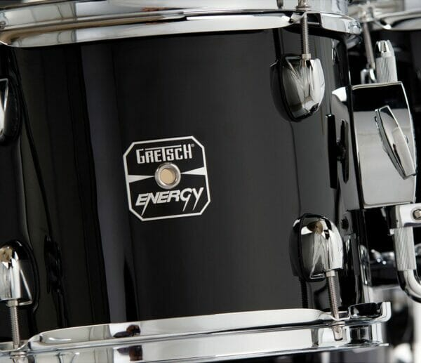 """Gretsch Energy 20"""" Drum Kit with Hardware and 3 Piece Paiste 101 Cymbal Pack - Black"""