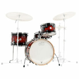"""DW Design Series Frequent Flyer, 12""""/14""""/20""""/14""""SD Shell Pack, Gloss Lacquer, Tobacco Burst"""