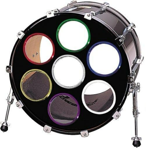 Bass drum O's 2 inch pair green