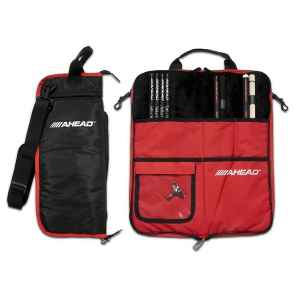 Ahead Armor Deluxe Stick Bag - Black with Red Trim