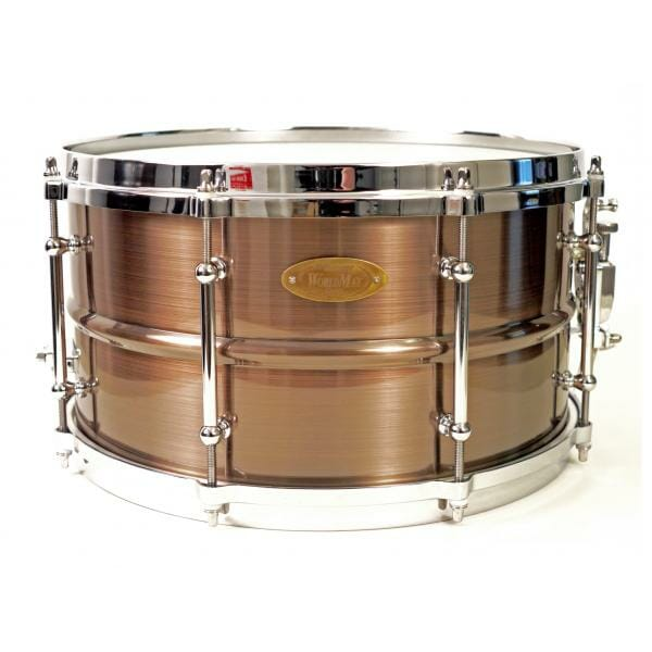 "Worldmax Red Copper Brass Snare 14"" x 6.5"""