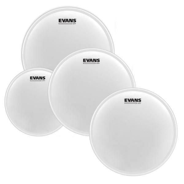 Evans UV1 Series Tom Head 10/12/16 Pack plus UV1 14in Snare Batter