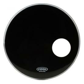 "Evans EQ3 Black 26"" Resonant Bass Drum Head - With Port"