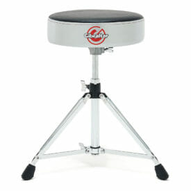 Gibraltar 6608RSG Double Braced Round Drum Throne – Grey Silver Finish