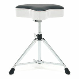 Gibraltar 6608MSW Double Braced Moto Style Throne – White Sparkle Finish