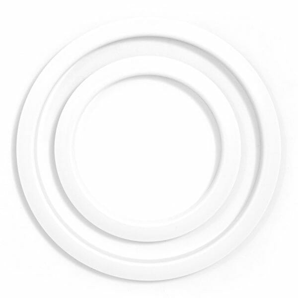 Gibraltar SC-GPHP-4W Port Hole Protector 4-inch white finish