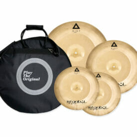 Istanbul Agop Xist Power Cymbal set - 3 Piece with Cymbal Case