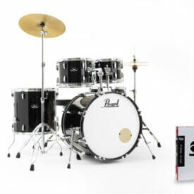 "Pearl Roadshow Jet Black 22"" with Sabian Solar Cymbals"