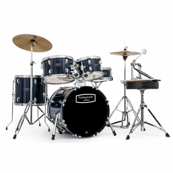 """Mapex Tornado Starter Drum Kit - 18"""" COMPACT - Royal Blue With Cymbals"""