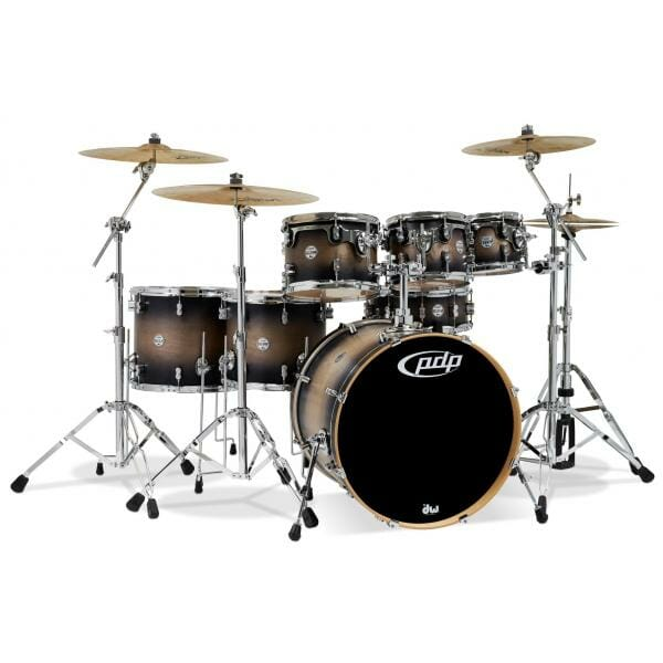 """PDP 7 Piece 22"""" Concept Maple Shell Pack Satin Charcoal Burst"""