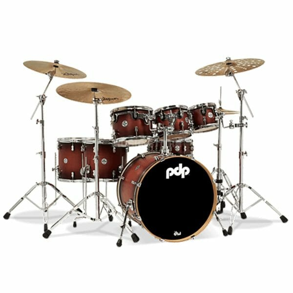 "PDP 7 Piece 22"" Concept Maple Shell Pack Satin Tobacco Burst"