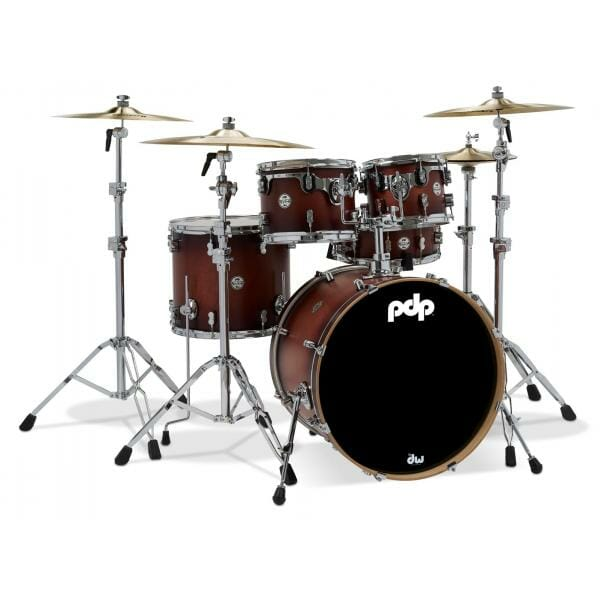 """PDP 22"""" 5 Piece Concept Maple Shell Pack Satin Tobacco Burst"""