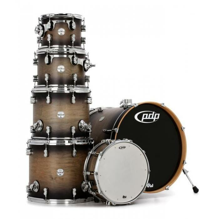 "PDP 22"" 6 Piece Concept Maple Shell Pack Satin Charcoal Burst"