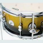 PDP 18 4 Piece Daru Jones Signature Drum Set Yellow to Black Sparkle Fade 4