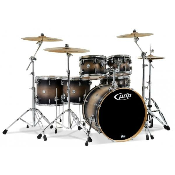 """PDP 22"""" 6 Piece Concept Maple Shell Pack Satin Tobacco Burst"""