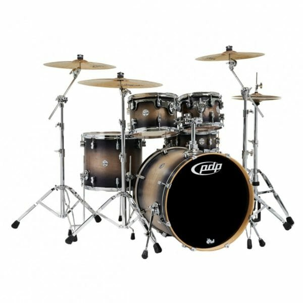 """PDP 22"""" 5 Piece Concept Maple Shell Pack Satin Charcoal Burst"""