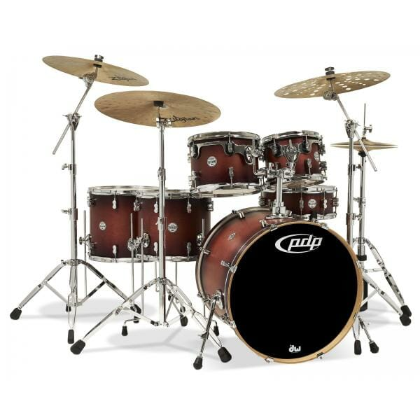 """PDP 20"""" Concept Series 5 piece Maple Shell Pack Satin Tobacco Burst"""