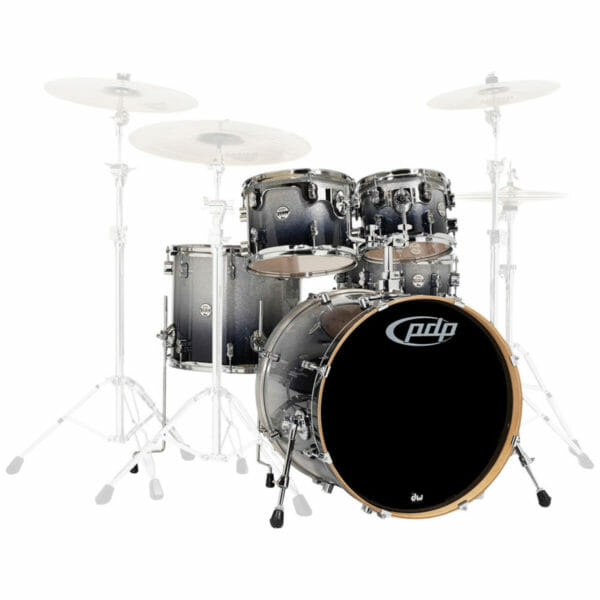 """PDP 20"""" 5 Piece Concept Maple Shell Pack Silver to Black Sparkle"""