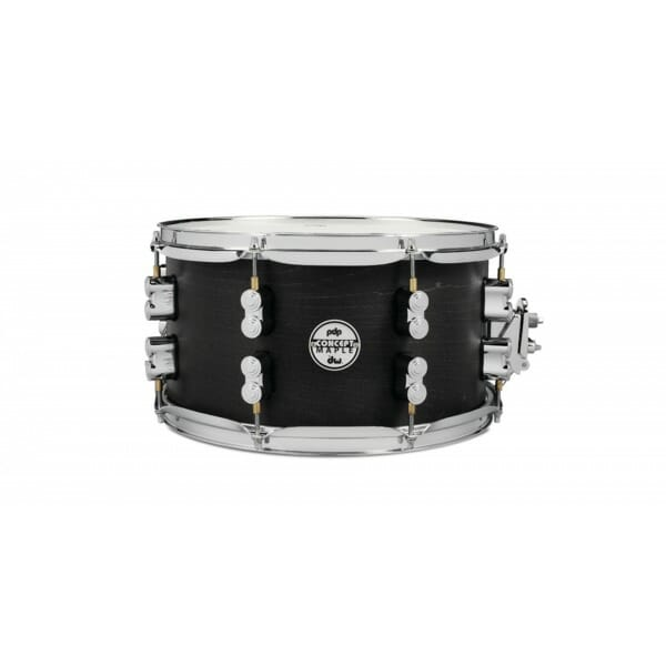 PDP Black Wax Maple Snare Drum 14 x 5.5""