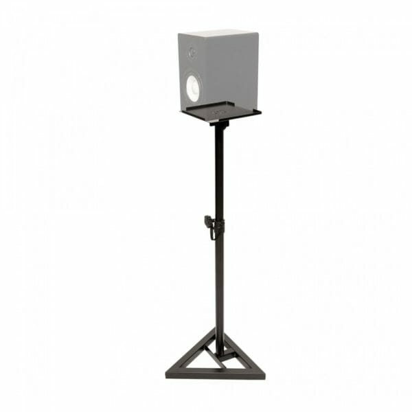 Stagg Two Steel Studio Monitor Stands, Height-Adjustable, With Tiltable Plate