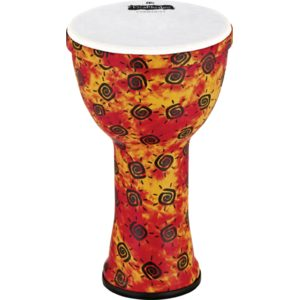 "Meinl Viva Rhythm Community Djembe Boom Series 9"", Pre-Tuned Synthetic Head, Sunshine Finish"