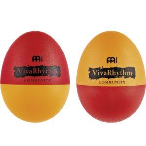 Meinl Viva Rhythm Plastic Egg Shaker, Pair, Red/Orange