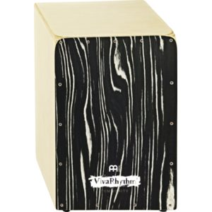 Meinl Viva Rhythm Snare Cajon, Natural, Birch Wood, With Striped Onyx Frontplate