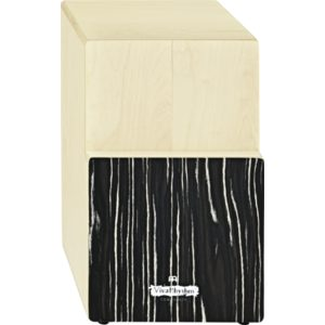 Meinl Viva Rhythm Tri Tone Cajon, Birch Wood, With Striped Onyx Frontplate