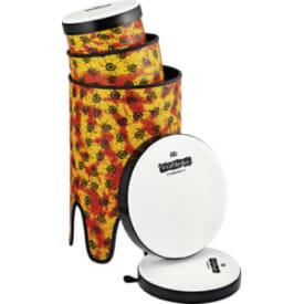 Meinl Viva Rhythm Pop Off Bass Drum Boom Series Set, Pre-Tuned Synthetic Head, Sunshine Finish