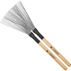 Meinl 7A Fixed Wire Brush, Wood Handle, Pair
