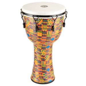 """Meinl Mechanical Tuned Travel Series Djembe 14"""", Kenyan Quilt, Synthetic Head"""