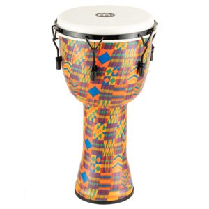 """Meinl Mechanical Tuned Travel Series Djembe 10"""", Kenyan Quilt, Synthetic Head"""