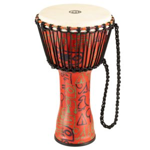 "Meinl Rope Tuned Travel Series Djembe 10"", Pharaoh'S Script, Goat Head"