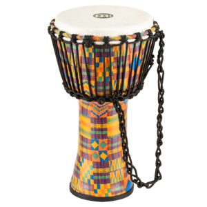 """Meinl Rope Tuned Travel Series Djembe 8"""", Kenyan Quilt, Synthetic Head"""