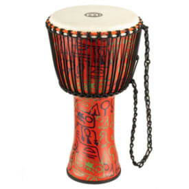 "Meinl Rope Tuned Travel Series Djembe 12"", Pharaoh'S Script, Goat Head"