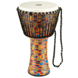 "Meinl Rope Tuned Travel Series Djembe 12"", Pharaoh'S Script, Synthetic Head"