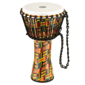 """Meinl Rope Tuned Travel Series Djembe 10"""", Simbra, Synthetic Head"""