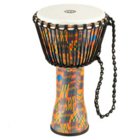 """Meinl Rope Tuned Travel Series Djembe 10"""", Kenyan Quilt, Synthetic Head"""