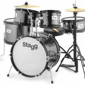 Stagg 5-Piece Junior Drum Set With Hardware - Black