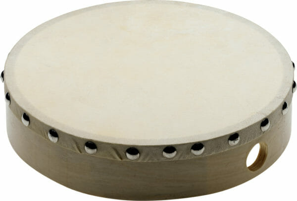 """Stagg 8"""" Pre-Tuned Wooden Hand Drum With Rivetted Skin"""