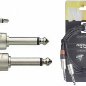 Stagg U Cable, Mini Jack/Jack (M/M), 3 M (10'), N-Series